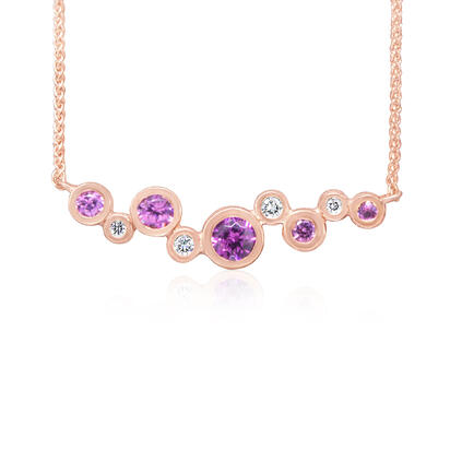 14K Rose Gold Purple Garnet/Diamond Neckpiece | NPF232GP2RI