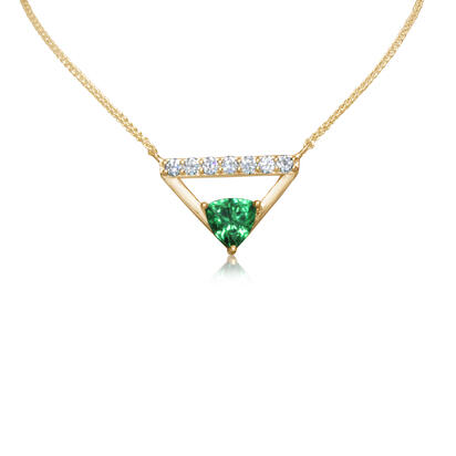 14K Yellow Gold Tsavorite/Diamond Neckpiece | NPF248V22CI