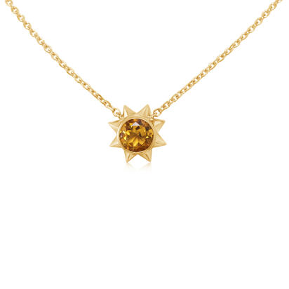 14K Yellow Gold Citrine Neckpiece | NPF361C2XC