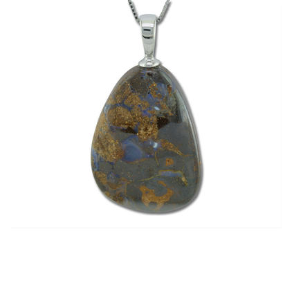 Sterling Silver Small Boulder Pendant | PBR9001IXS