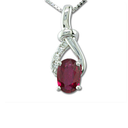 14K Yellow Gold Mozambique Ruby/Diamond Pendant | PCC081RZ3CI