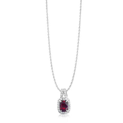 14K Yellow Gold Mozambique Ruby/Diamond Pendant