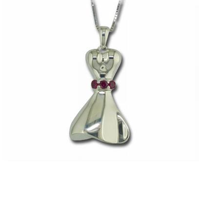 Sterling Silver Ruby Dress Pendant | PGR003R2XSI
