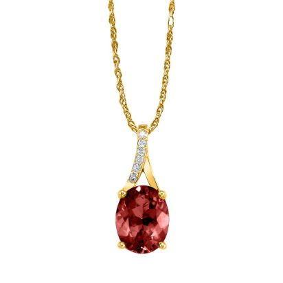 14k yellow gold garnetdiamond pendant ppf049g22ci 14k yellow gold garnetdiamond pendant aloadofball Image collections