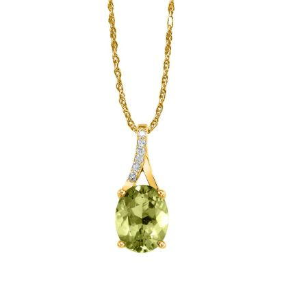 14K Yellow Gold Semi-Mount/Diamond Pendant | PPF049XX2CI