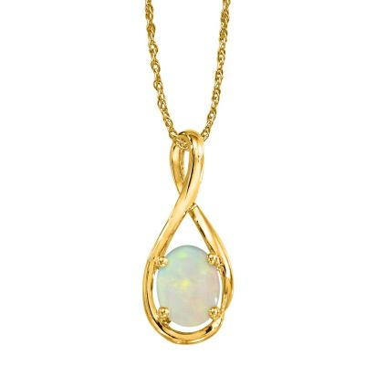 14K Yellow Gold Australian Opal Pendant (With Chain) | PPF071N1XCI-CH
