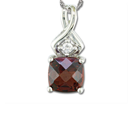 14K Yellow Gold Blue Topaz/Diamond Pendant | PPF108BC2CI