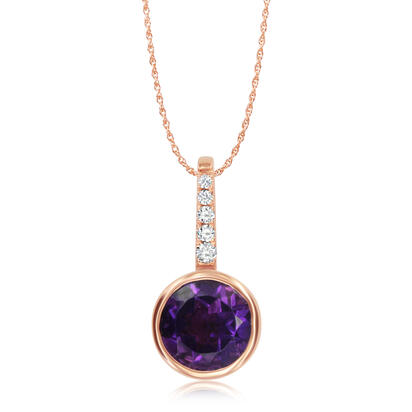 14K Rose Gold Semi-Mount/Diamond Pendant | PPF236XX2RI