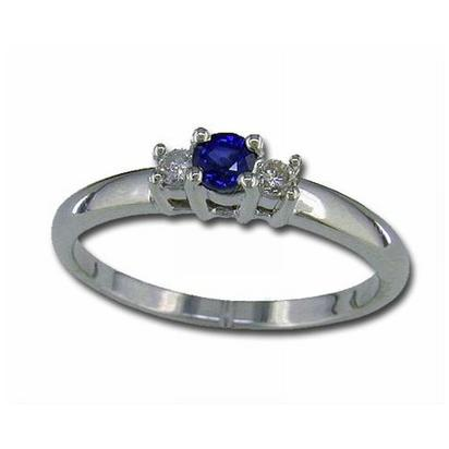 14K Yellow Gold Yogo Sapphire & Diamond Ring | R30DDNY2C