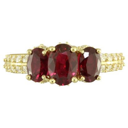 18K Yellow Gold Mozambique Ruby/Diamond Ring | R57RZ0110E