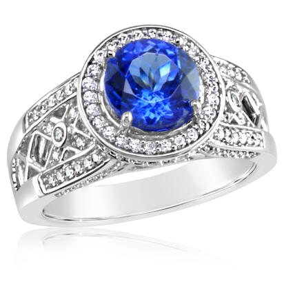 18K White Gold Tanzanite/Diamond Ring | R7RJ0200QI