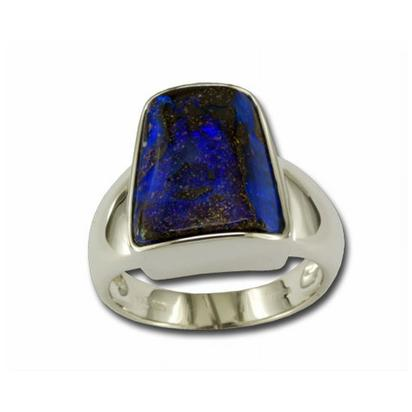 Silver Gents Boulder Opal Ring | RB29S-8I