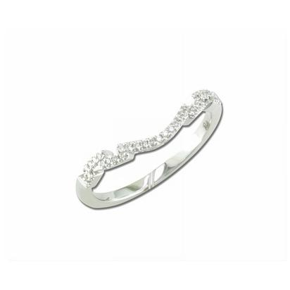 Entranced - 14K White Gold Diamond Wedding Band | RBC005XX3WI-B
