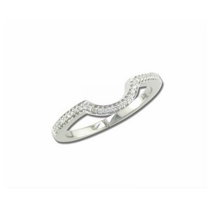 Bliss - 14K White Gold Diamond Wedding Band | RBC018XX3WI-B
