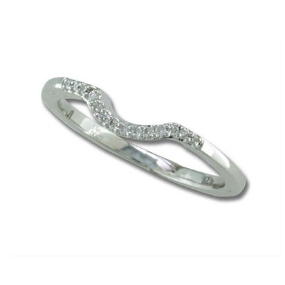 Flirt - 14K White Gold Diamond Wedding Band | RBC030XX3WI-B