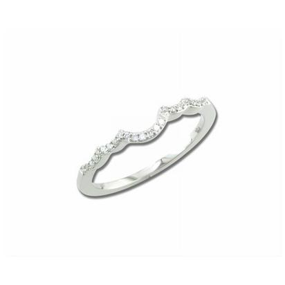 Flutter - 14K White Gold Diamond Wedding Band | RBC034XX3WI-B