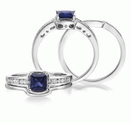 Poise - 14K White Gold Semi-Mount/Diamond Wedding Ring | RBC040XX3WI