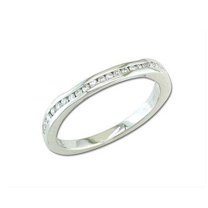 14K White Gold Diamond Wedding Band | RBC056XX3WI-B