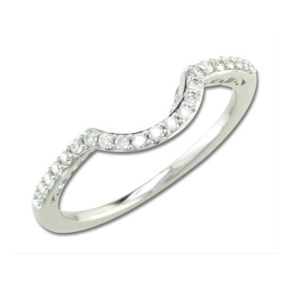 18K White Gold Diamond Wedding Band | RBC060XX0QI-B