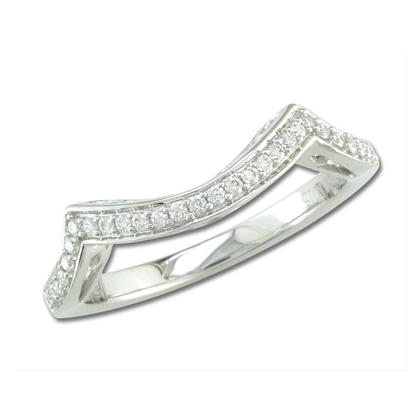 18K White Gold Diamond Wedding Band | RBC061XX0QI-B