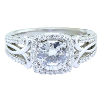18K White Gold Semi Mount Diamond Wedding Ring | RBC063XX0QI
