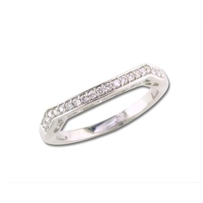 18K White Gold Diamond Wedding Band | RBC502XX0QI-B