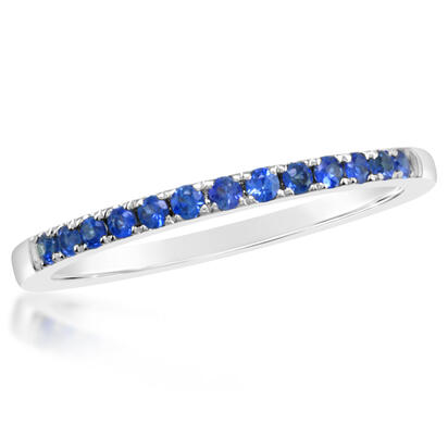 14K White Gold Sapphire Wedding Band | RBC900S1XWI