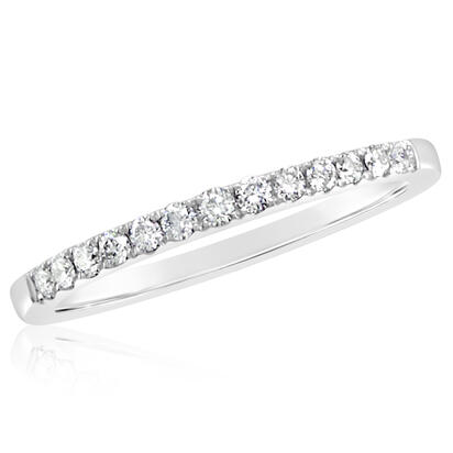 14K White Gold Diamond Wedding Band | RBC900XX1WI