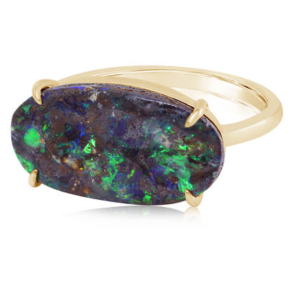 14K Yellow Gold Australian Boulder Opal Ring