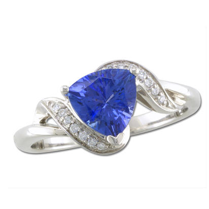 14K White Gold Tanzanite/Diamond Ring | RCC022J23WI