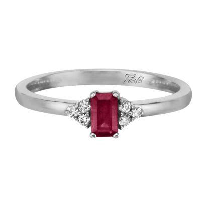 14K White Gold Ruby/Diamond Ring | RCC026R23WI