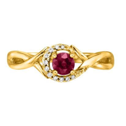 14K Yellow Gold Madagascar Ruby/Diamond Ring | RCC034RM3CI