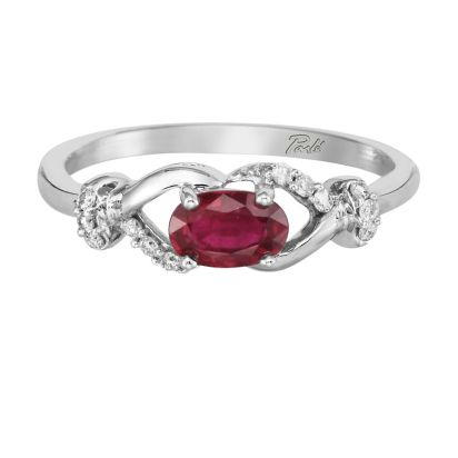14K White Gold Mozambique Ruby/Diamond Ring | RCC073RZ3WI