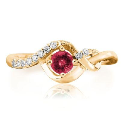 14K Yellow Gold Ruby/Diamond Ring | RCC077R23CI