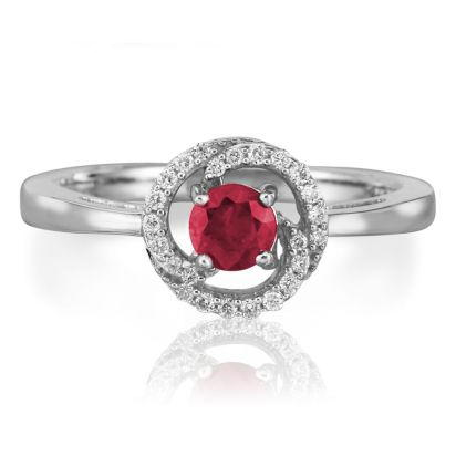 14K White Gold Ruby Diamond Ring | RCC082R23WI