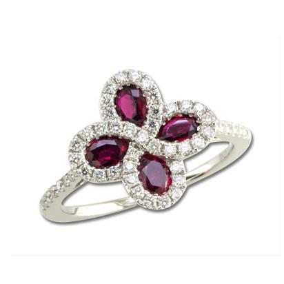 14K White Gold Madagascar Ruby/Diamond Ring | RCC110RM1WI