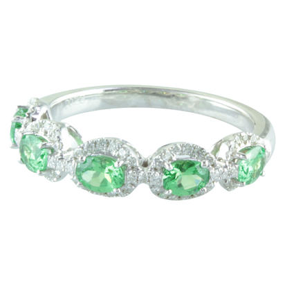 14K White Gold Tsavorite/Diamond Ring | RCC112V21WI