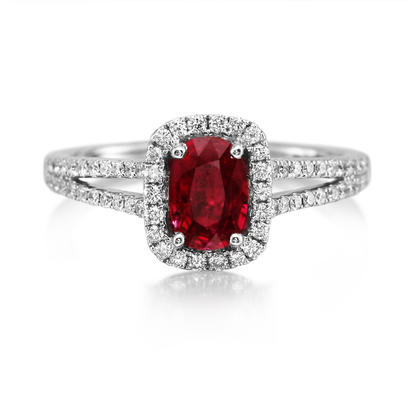 14K Yellow Gold Mozambique Ruby/Diamond Ring | RCC123RZ1CI