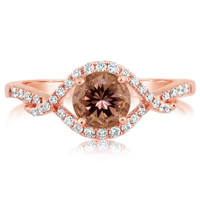 14K Rose Gold Lotus Garnet/Diamond Ring | RCC128LG2RI