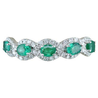 14K White Gold Emerald/Diamond Ring | RCC129E11WI