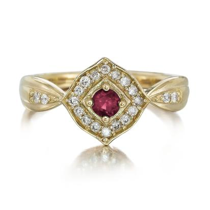 14K Yellow Gold Ruby/Diamond Ring | RCC150R22C