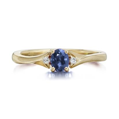 14K Yellow Gold Sapphire/Diamond Ring | RCC151S12C