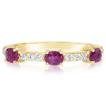 14K Yellow Gold Ruby/Diamond Ring | RCC210R12CI
