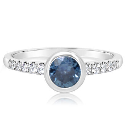 14K White Gold Montana Sapphire/Diamond Ring | RCC211MS2WI