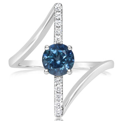 14K White Gold Montana Sapphire/Diamond Ring | RCC213MS2WI