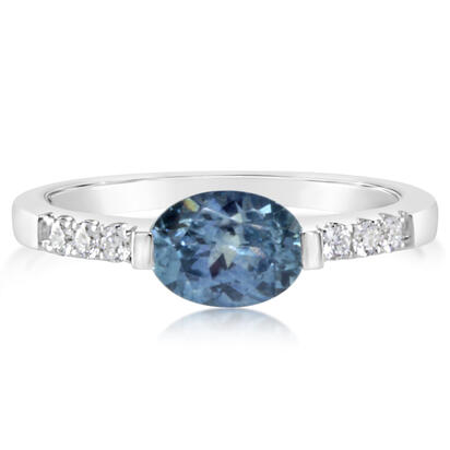 14K White Gold Montana Sapphire/Diamond Ring | RCC216MS2WI