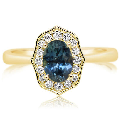 14K Yellow Gold Montana Sapphire/Diamond Ring | RCC219MS2CI