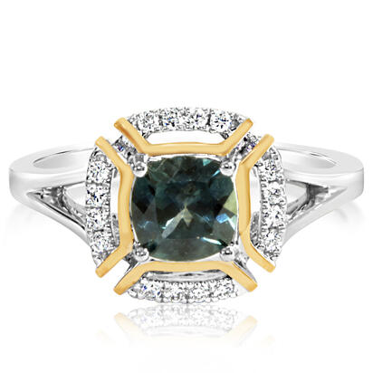 14K White and Yellow Gold Montana Sapphire/Diamond Ring | RCC220MS2AI