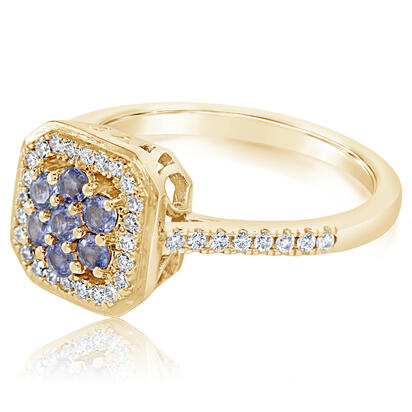 14K Yellow Gold Yogo Sapphire/Diamond Ring | RCC227Y22C