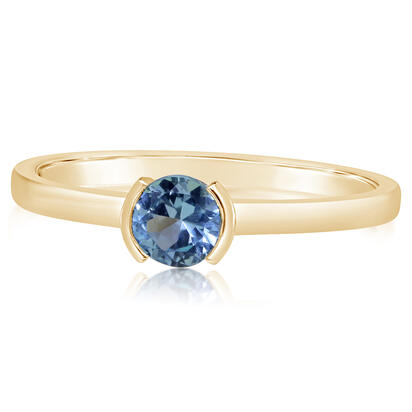 14K Yellow Gold Blue Topaz Ring | RCC229B2XCI
